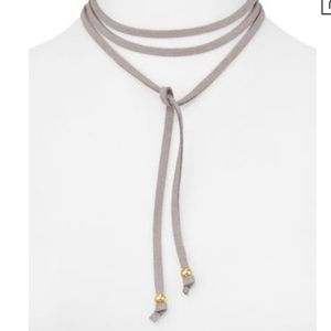 jules smith // grey suede wrap choker necklace
